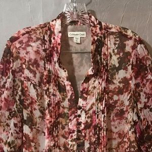 Coldwater Creek  Plus Size Long  Sleeve Blouse